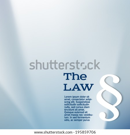 Design elements Modern style background for Legal & law firm. Silver glow blur light with sign legal law. Vector illustration eps 10. Can be used for cover page brochure lawyer office, notary company - stock vector
