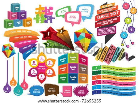 design elements n text box design - stock vector