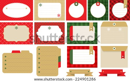 Design elements of banner and frame for Christmas A