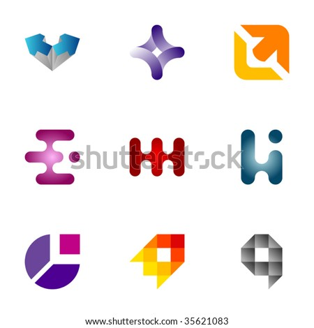 Design elements or logotype design - Set 46 - stock vector