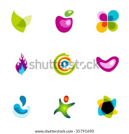 Design elements or logotype design - Set 51 - stock vector