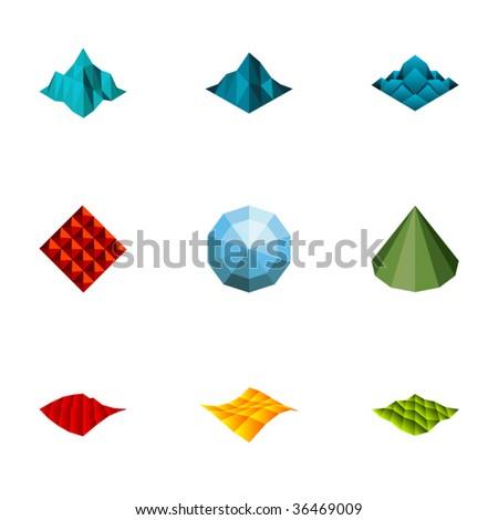 Design elements or logotype design - Set 65 - stock vector