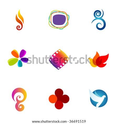 Design elements or logotype design - Set 67 - stock vector