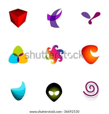 Design elements or logotype design - Set 68 - stock vector