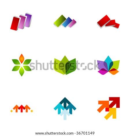 Design elements or logotype design - Set 69 - stock vector