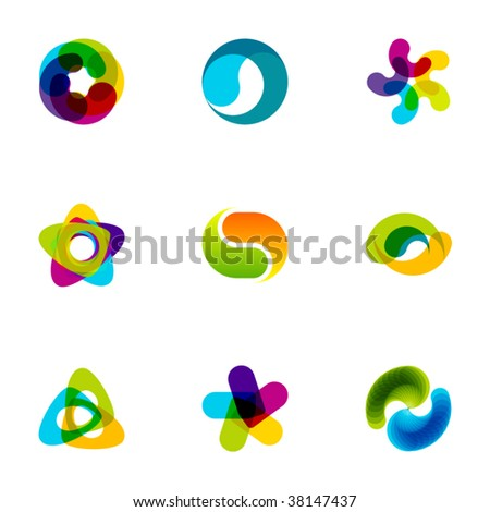 Design elements or logotype design - Set 79 - stock vector