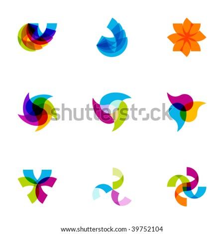 Design elements or logotype design - Set 80 - stock vector