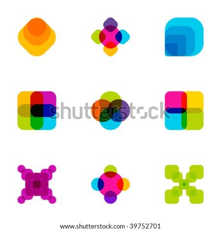 Design elements or logotype design - Set 82 - stock vector