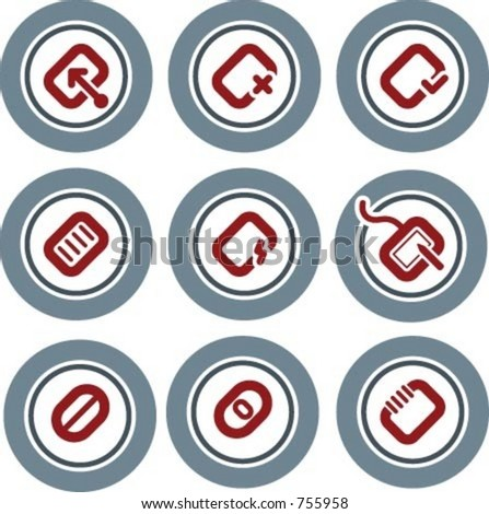 Design Elements p.19b ?Icons? - vector file format, fully editable elements for general use, simply change any colors as you wish. I hope you enjoy - stock vector