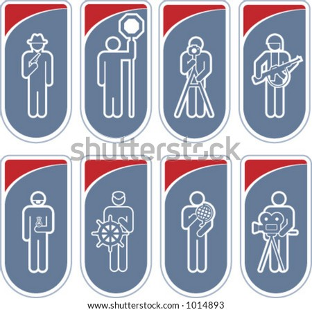"Design Elements p.27c ""Man at work"" is a vector file format for general use. Simply change any colors as you like. I hope you enjoy. - stock vector"
