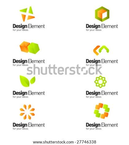 Design elements. part 12 from 16 - stock vector