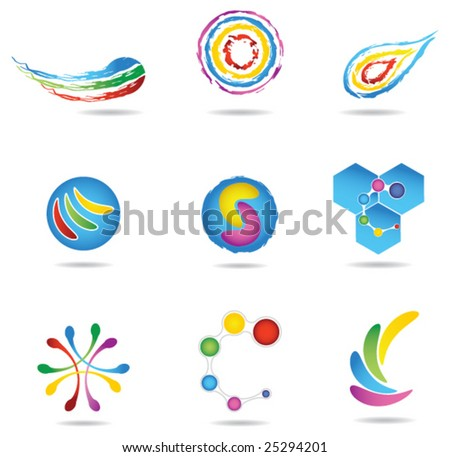 Design elements set - stock vector