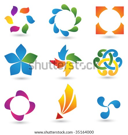 Design elements set 15 - stock vector