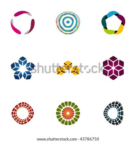 Design elements - Set 110 - stock vector