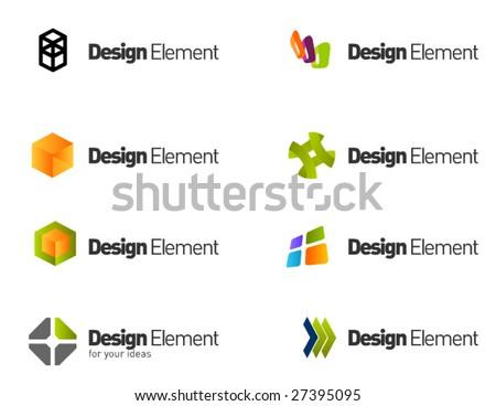 Design elements  set. part  8 - stock vector