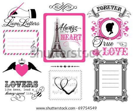 Design elements - St. Valentine's Day - stock vector