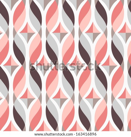 Design elements - tangled colorful waves and diamonds. Seamless background. Vector illustration. - stock vector