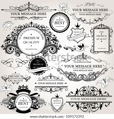 design elements vector set - stock vector