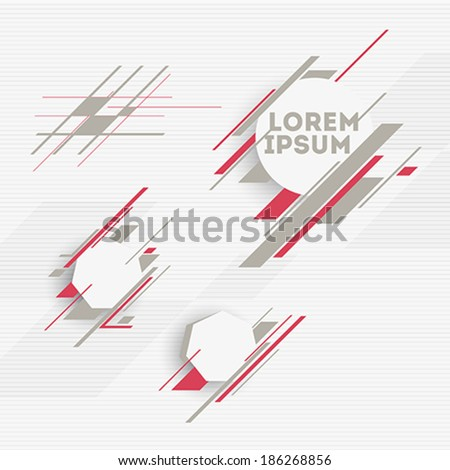 Design elements with abstract geometric forms - stock vector