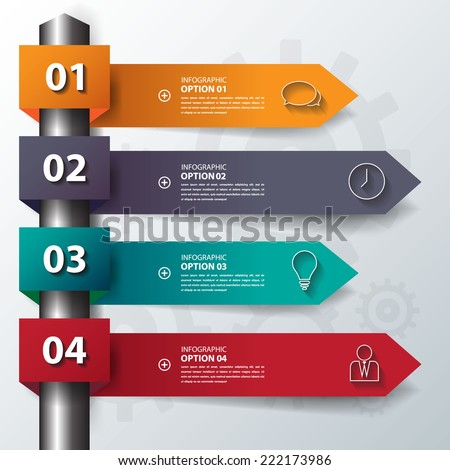 Design flat shadow step number banners /graphic or website.Vector/EPS10. - stock vector
