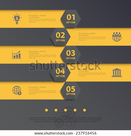 Design flat shadow step number banners /graphic or website. Vector/illustration. - stock vector