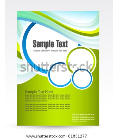 design for business flyer vector - stock vector