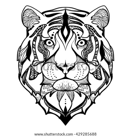 Design For Your T Shirt Pattern Coloring Book Hand Drawn Line Art Of