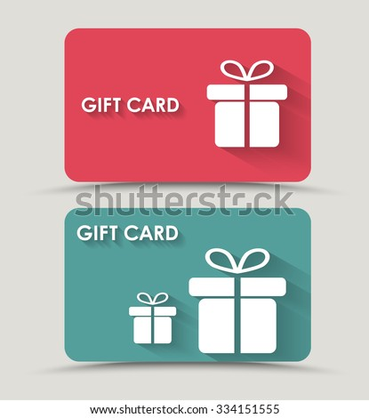 Design Gift Card Box Flat Style Stock Vector 334151555 Shutterstock