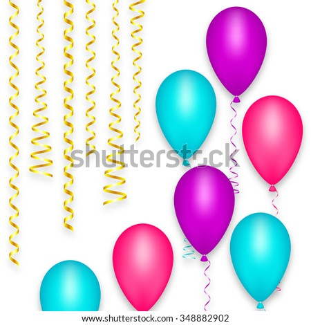 Design Greeting Card Background Balloon Happy Stock Vector