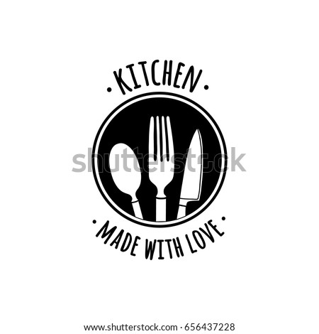 Design Handmade Badges Labels And Poster Element Retro Symbols For Kitchenware Shop Cooking