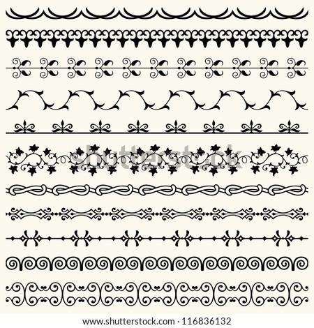 Design horizontal elements - stock vector