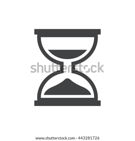 design hourglass icon and logo