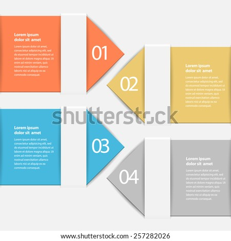 design infographic template. vector Layout - stock vector
