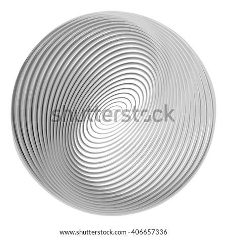 Design monochrome ellipse background. Abstract torsion illusion backdrop. Vector-art illustration. EPS10 - stock vector