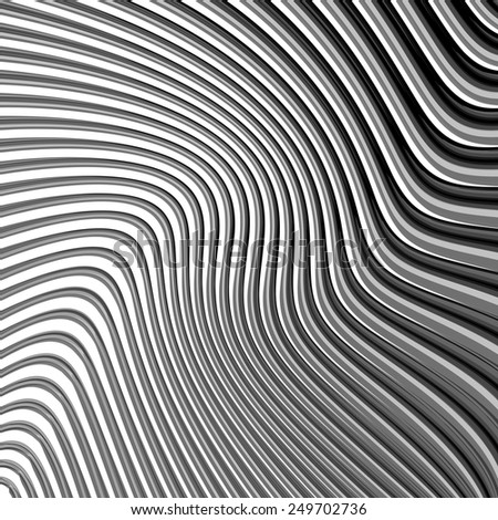 Design monochrome parallel waving lines background. Abstract textured backdrop. Vector-art illustration. EPS10 - stock vector