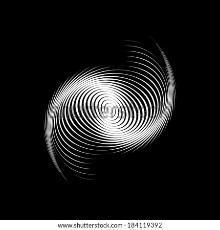 Design monochrome swirl motion background. Abstract lines torsion backdrop. Decor element. Vector-art illustration - stock vector