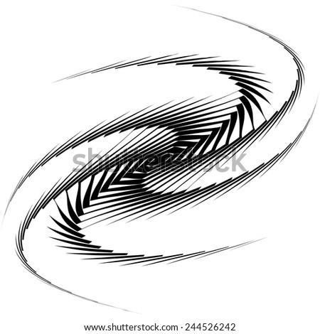 Design monochrome whirl movement background. Abstract lines torsion twisted backdrop. Decoration element. Vector-art illustration - stock vector