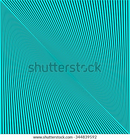 Design movement illusion background. Abstract striped lines distortion twisted backdrop. Vector-art illustration - stock vector
