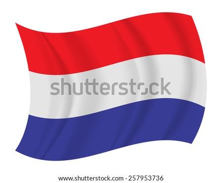 design Netherlands flag waving vector - stock vector