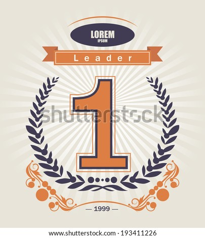 Design Number One. - stock vector