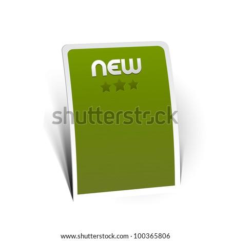 Design of advertisement labels stickers - stock vector