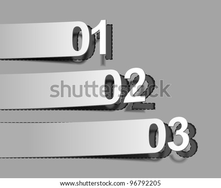 Design of advertisement numbers labels stickers. - stock vector