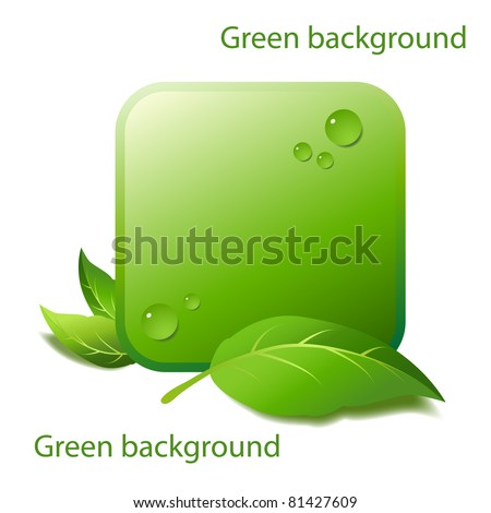 Design of an element of background for natural products - stock vector