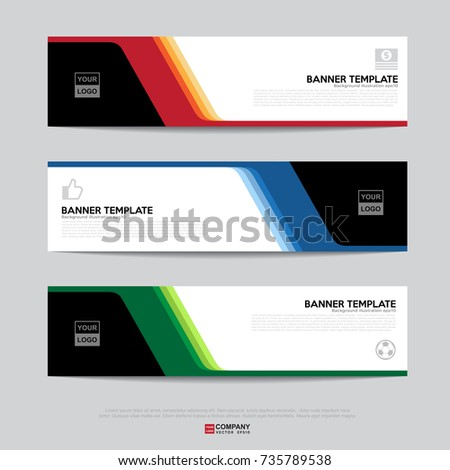 Design flyers banners brochures cards template banner stock vector design of flyers banners brochures and cards templatebanner design for business presentation accmission Images