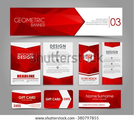Design flyers banners brochures cards red stock vector for Red line printing