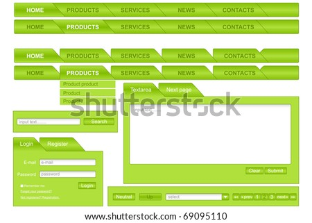 Design of forms for web-pages. Vector illustration.
