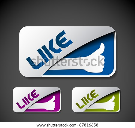Design of like labels stamps stickers use. - stock vector