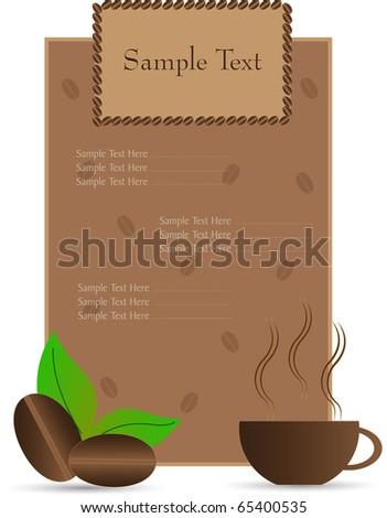 design of menu - stock vector