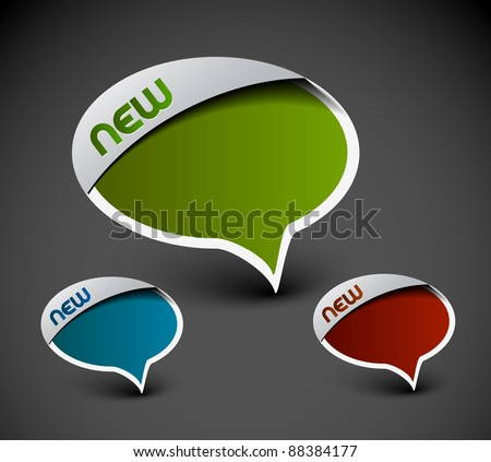 Design of messenger window icon. transparent shadow easy replace background and edit colors. - stock vector