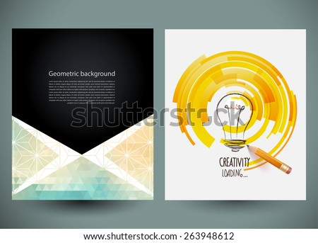 Design of progress bar, loading creativity. Vector web and mobile interface template. Abstract vector brochure, Web sites, page, leaflet, logo and text separately. - stock vector